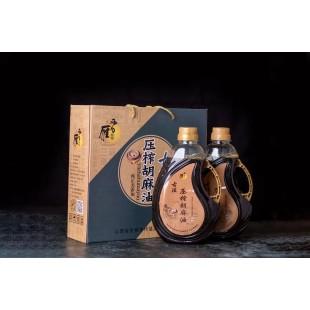 【润明饼业】新品:雁晋润明古法压榨胡麻油1.6Lx2壶装