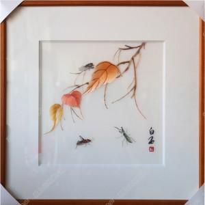 纯手工刺绣工艺品中国特色礼品—白石
