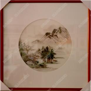 纯手工刺绣工艺品中国特色礼品—山岳树木系列
