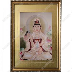 纯手工刺绣工艺品中国特色礼品—观世音菩萨