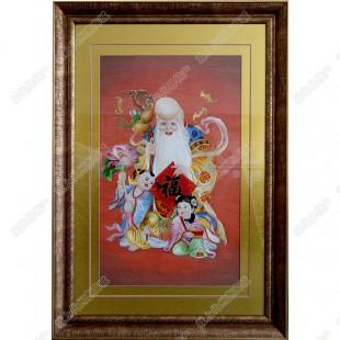 纯手工刺绣工艺品中国特色礼品—寿星