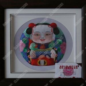 纯手工刺绣工艺品中国特色礼品—荷香