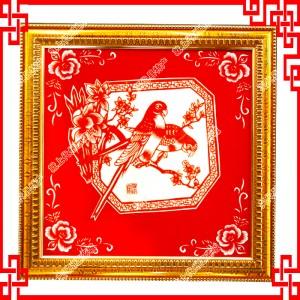 纯手工剪纸工艺品中国特色礼品—喜鹊登梅4件套