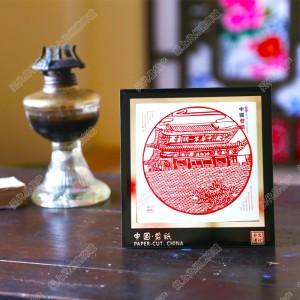纯手工剪纸工艺品中国特色礼品—镜框剪纸