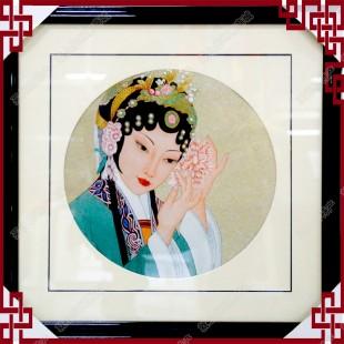 纯手工刺绣工艺品中国特色礼品—高锦绣