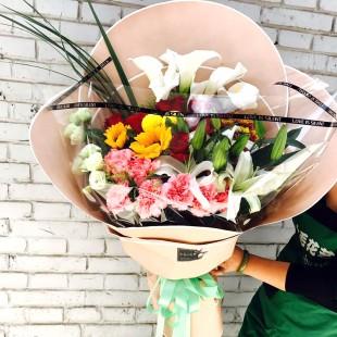 【大毛花艺】特惠!同城配送韩式花束可预定